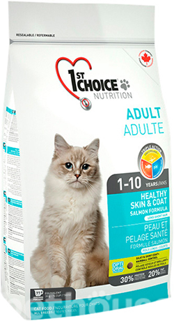 1st Choice Cat Adult Healthy Skin & Coat , фото