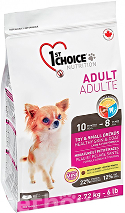 1st Choice Adult Toy and Small Breeds Healthy Skin & Coat, фото