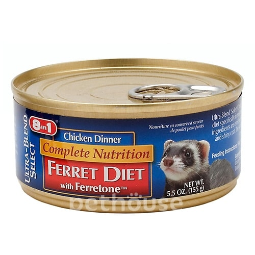 8in1 Complete Nutrition Ferret Diet Chicken Dinner, фото 2