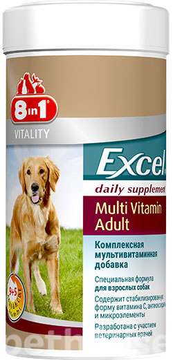 8in1 Excel Multi-Vitamin Adult Dog, фото