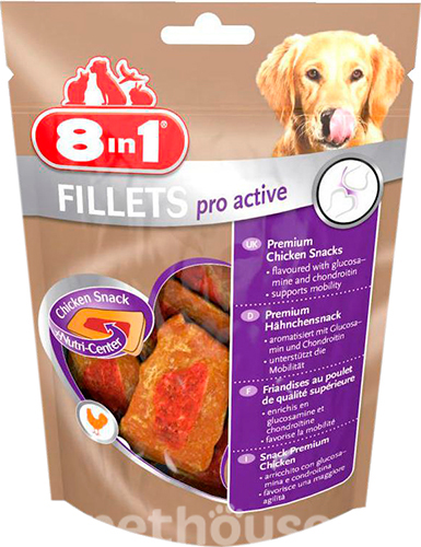 8in1 Fillets Pro Active - лакомство для улучшения подвижности собак