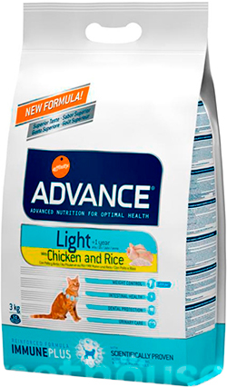 Advance Cat Light Chicken & Rice, фото