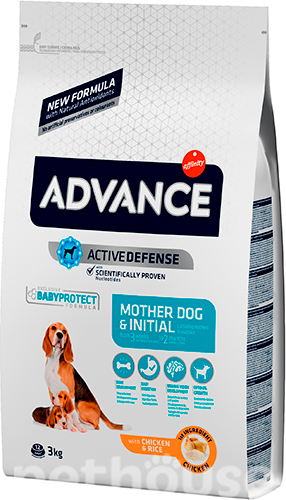 Advance Mother Dog & Initial (Puppy Initial)