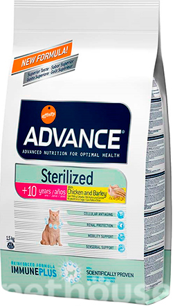 Advance Cat Senior Sterilized Chicken & Barley, фото