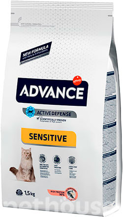 Advance Cat Sensitive Salmon & Rice, фото