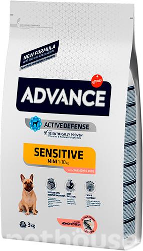 Advance Mini Sensitive (с лососем и рисом) сухой корм для собак  купить в Киеве, цена -  135 грн в Украине   Pethouse.ua