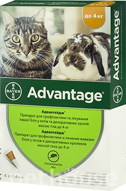 Bayer Advantage 40 для кошек до 4 кг, фото