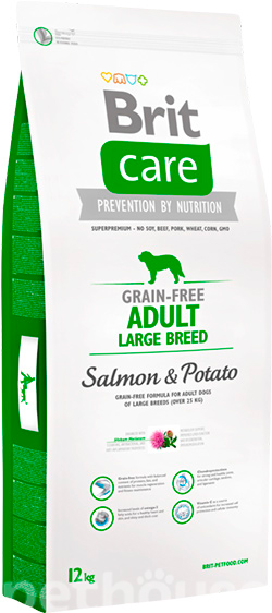 Brit Care Grain Free Adult Large Breed Salmon & Potato, фото