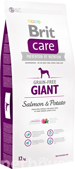 Brit Care Grain Free Giant Salmon & Potato, фото