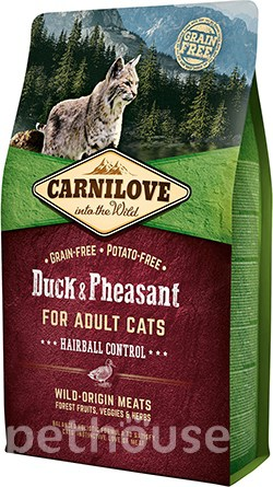 Carnilove Cat Duck & Pheasant Hairball Control, фото