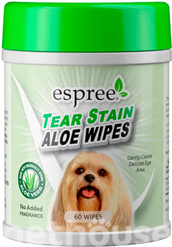 Espree Aloe Tear Stain Wipes, фото