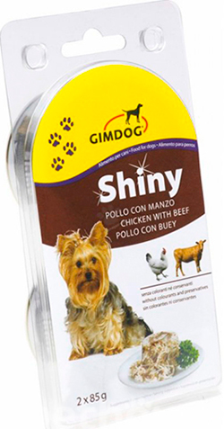 Gimpet Shiny Dog консерва для собак, с курицей и говядиной, фото