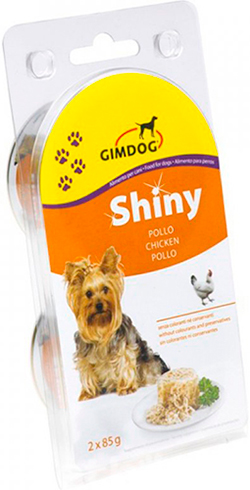 Gimpet Shiny Dog консерва для собак, с курицей, фото