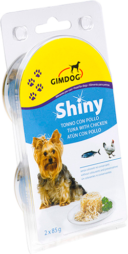 Gimpet Shiny Dog консерва для собак, с цыпленком и тунцом, фото