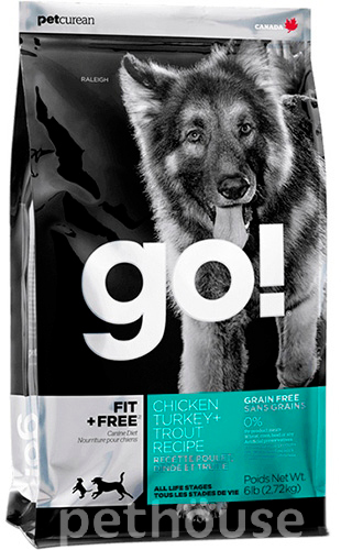 GO! Natural Fit+Free Grain Free Dog All life Stages