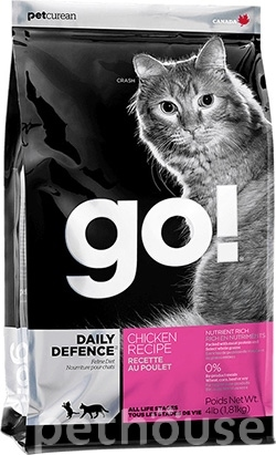GO! Natural Daily Defence Chicken Cat Recipe, фото