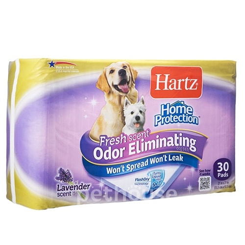 Hartz Odor Eliminating Pads Пеленки для собак, с ароматом лаванды, фото 3