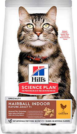 Hill's SP Feline Mature Аdult 7+ Hairball Chicken, фото