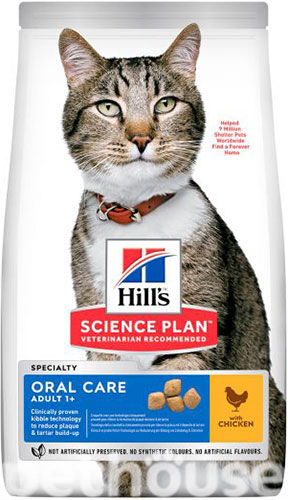 Hill's SP Feline Adult Oral Care Chicken, фото 2