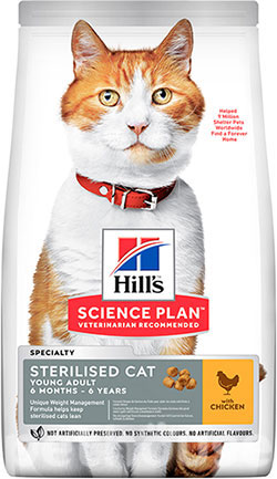 Hill's SP Feline Adult Young Sterilised Cat With Chicken, фото