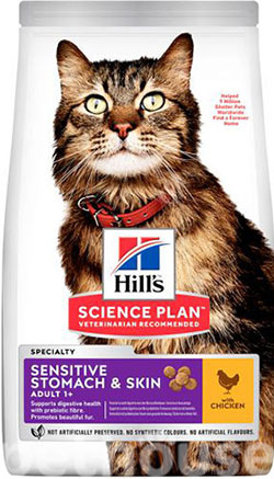 Hill's SP Feline Adult Sensitive Stomach & Skin, фото