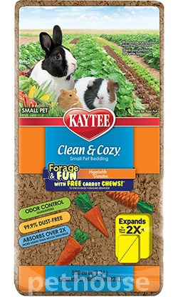 Kaytee Clean & Cozy Vegetable Garden - подстилка в клетку для грызунов, фото