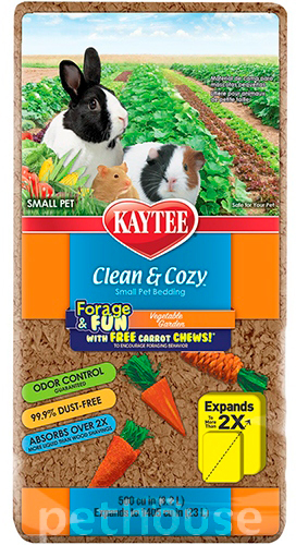 Kaytee Clean & Cozy Vegetable Garden - подстилка в клетку для грызунов, фото 2