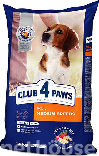 Клуб 4 лапы Premium для взрослых собак средних пород сухой корм для собак купить в Киеве, цена - 195 грн в Украине | Pethouse.ua