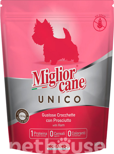 Migliorcane Unico Adult Small Breed Pork with Ham