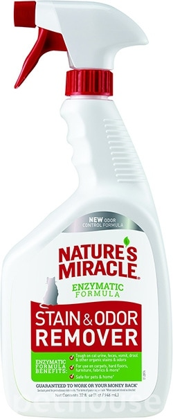 Nature's Miracle Just for Cats Stain & Odor Remover, Spray, фото