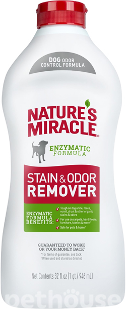 Nature's Miracle Dog Stain & Odor Remover, раствор, фото
