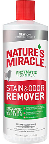 Nature's Miracle Dog Stain & Odor Remover, раствор, фото 2