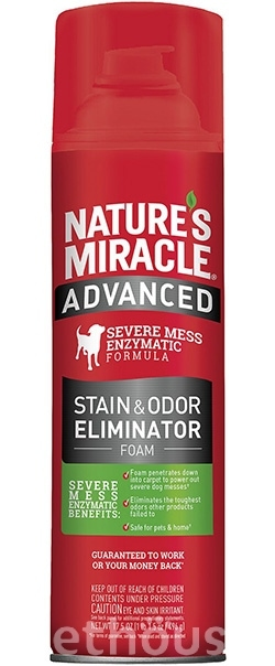 Nature's Miracle Advanced Dog Stain & Odor Eliminator, аэрозоль-пена, фото