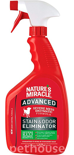 Nature's Miracle Advanced Dog Stain and Odor Eliminator, спрей
