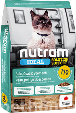 Nutram I19 Ideal Solution Support Sensitive Skin, Coat & Stomach Cat, фото