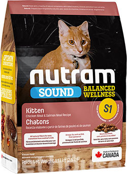 Nutram S1 Sound Balanced Wellness Kitten, фото