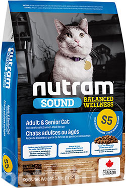 Nutram S5 Sound Balanced Wellness Natural Adult & Senior Cat, фото