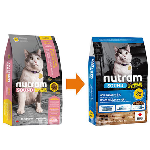 Nutram S5 Sound Balanced Wellness Natural Adult & Senior Cat, фото 2