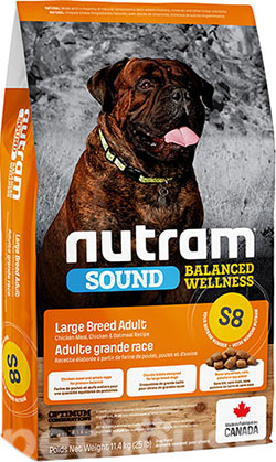 Nutram S8 Sound Balanced Wellness Large Breed Adult Dog, фото