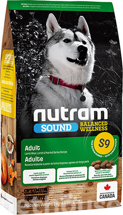 Nutram S9 Sound Balanced Wellness Lamb Adult Dog, фото
