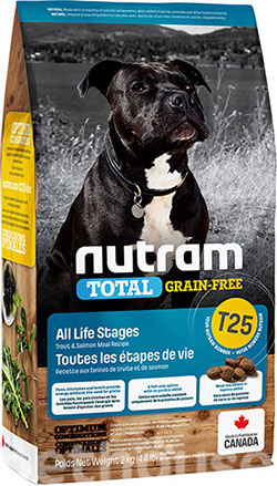 Nutram T25 Total Grain-Free Salmon & Trout Dog, фото
