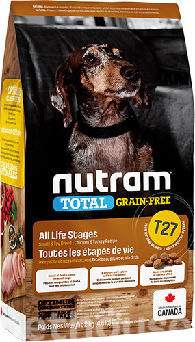 Nutram T27 Total Grain-Free Turkey, Chicken & Duck Small Breed Dog