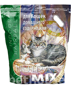 Nutra Mix Gold Cat Indoor Hairball, фото