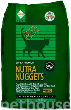 Nutra Nuggets Cat Indoor Hairball, фото