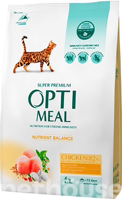 Optimeal Cat Adult Chicken, фото