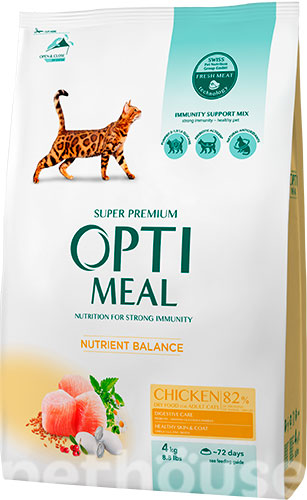 Optimeal Cat Adult Chicken, фото 2