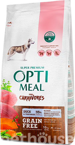 Optimeal Dog Adult Grain Free Duck & Vegetables, фото
