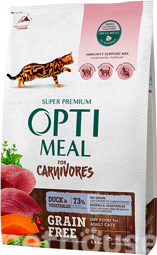 Optimeal Cat Adult Grain Free Duck & Vegetables