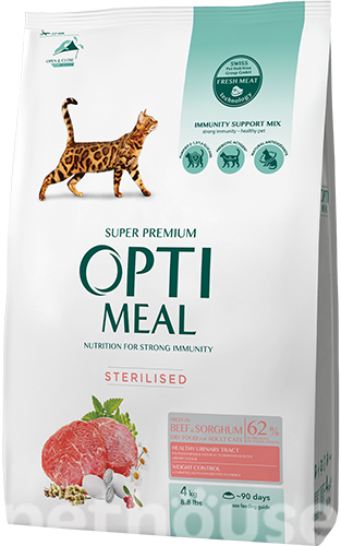 Optimeal Cat Adult Sterilised Beef & Sorghum