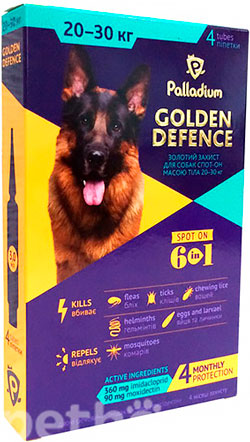 Palladium Golden Defence для собак весом от 20 до 30 кг, фото